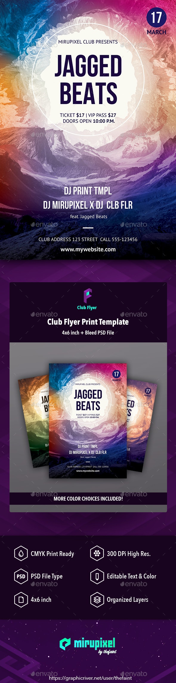 Club Flyer: Jagged Beats - Clubs & Parties Events
