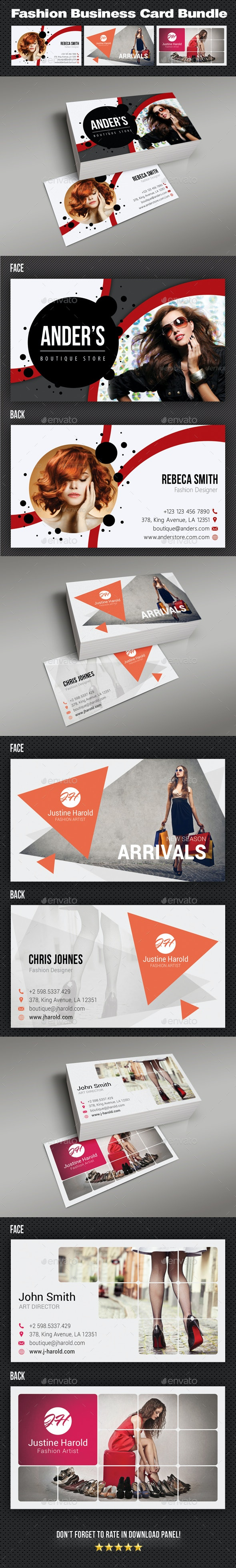 Fashion Business Card Bundle - Creative Business Cards