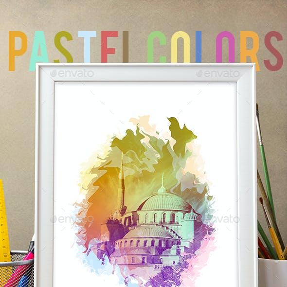 Pastel Colors Photo Template