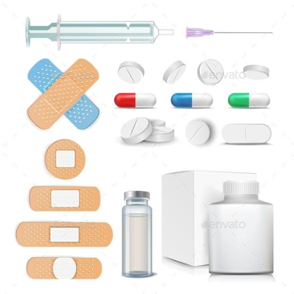 Medical Items Set Vector