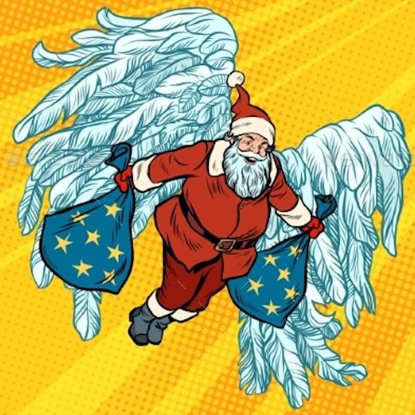 Santa Claus Angel Wings, Christmas Gifts