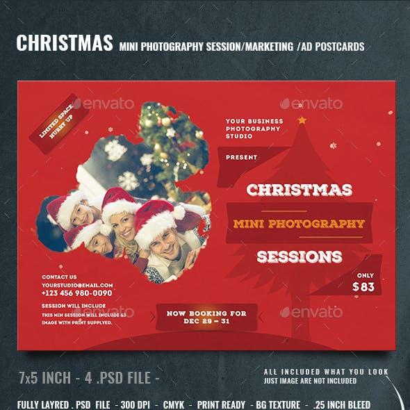 Christmas Mini Session Photography Template
