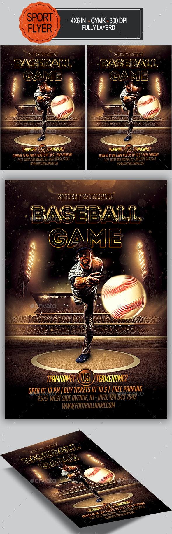 Baseball Flyer - Sports Events