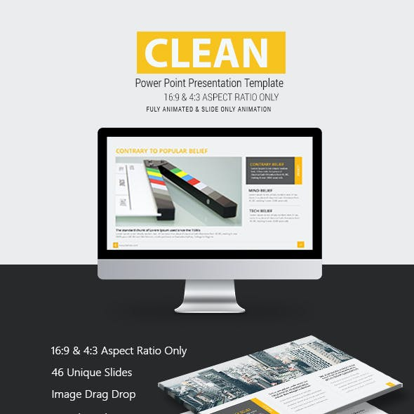 Clean Premium Power Point Presentation