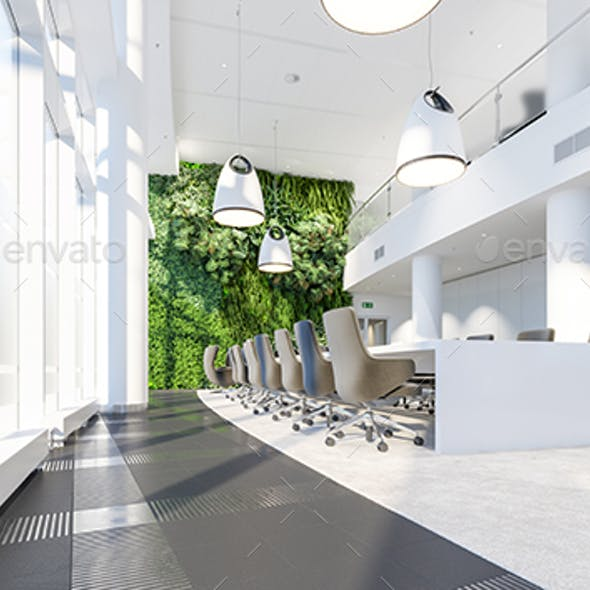 Meeting Room With Garden Wall In Office Center