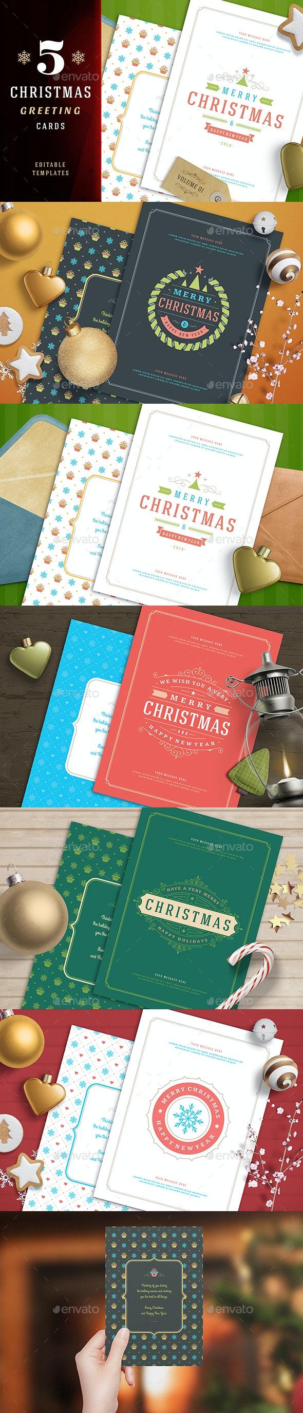 5 Christmas Greeting Cards - Christmas Greeting Cards