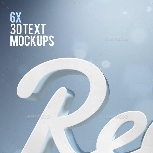 Real 3D Text Mockups