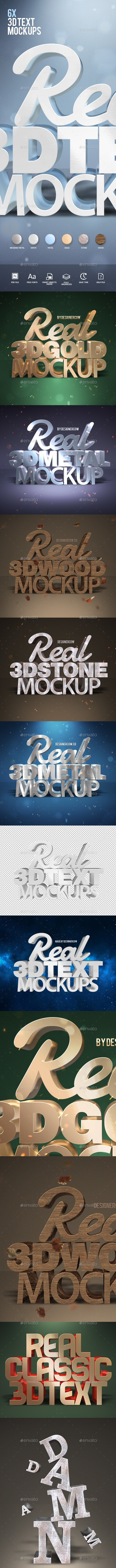 Real 3D Text Mockups - Miscellaneous Backgrounds