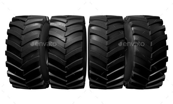 Tractor Tire. 3D Render - Miscellaneous 3D Renders