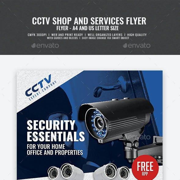 CCTV Surveillance Store Flyer