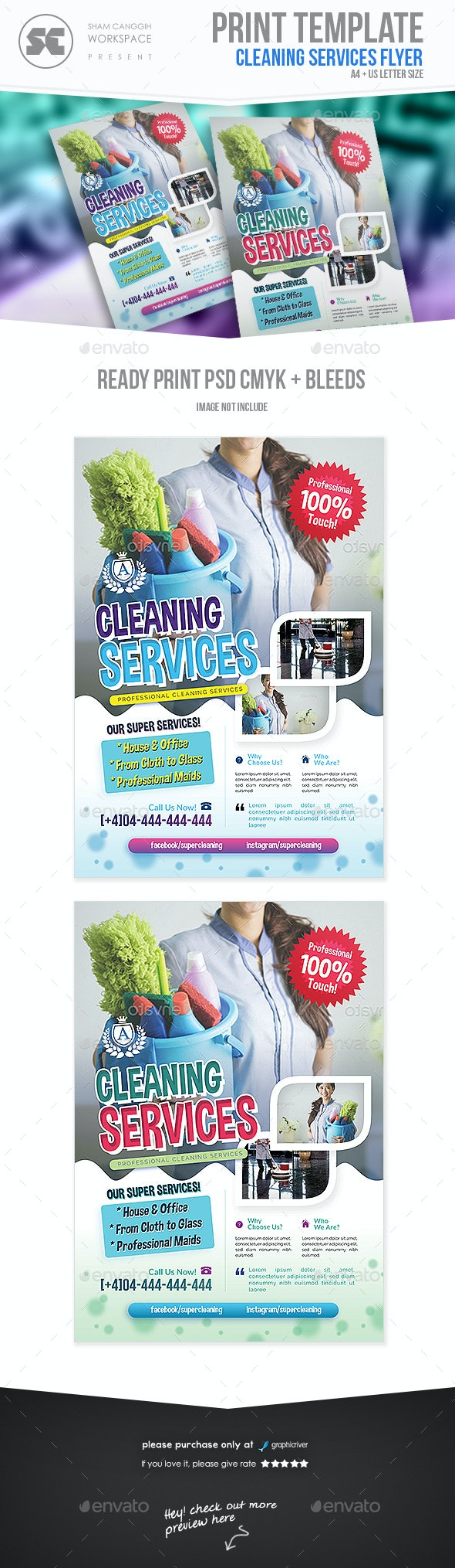 Cleaning Services Flyer - Miscellaneous Events
