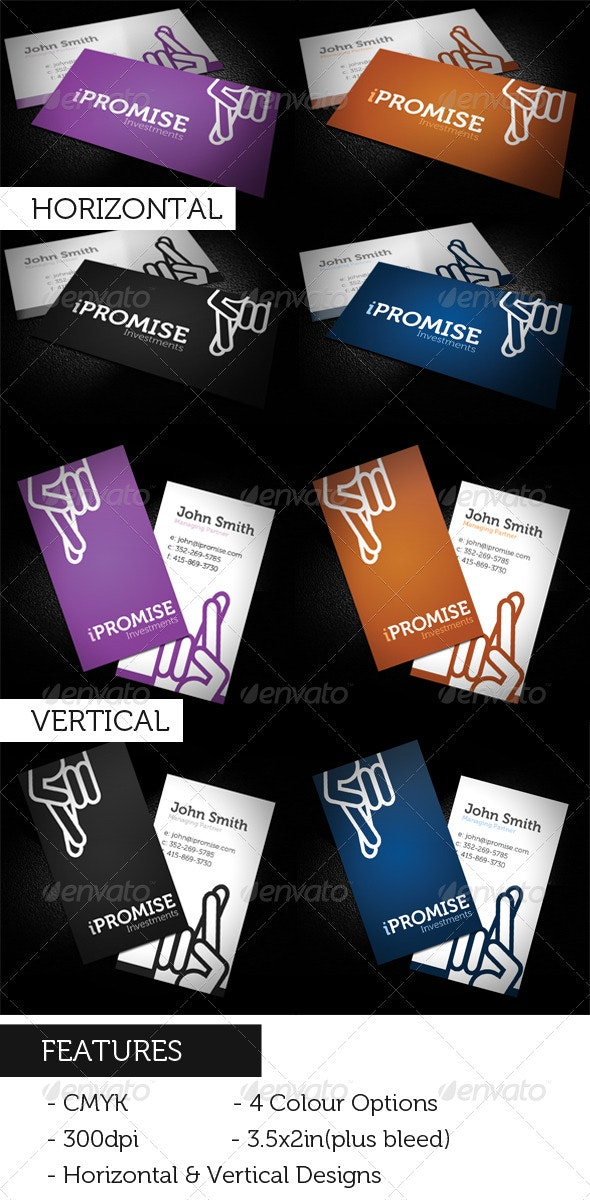 iPromise Modern Business Card - Creative Business Cards