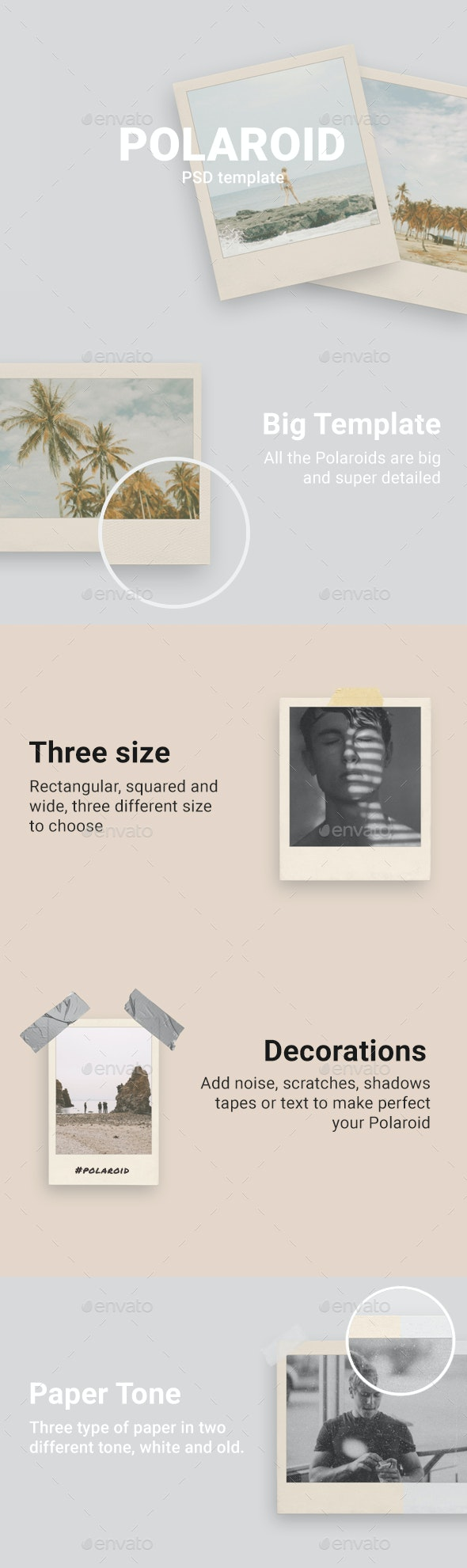 Polaroid Template - Miscellaneous Photo Templates