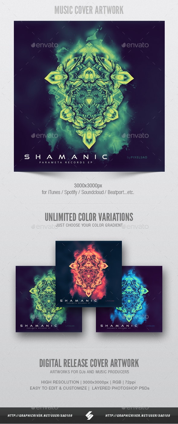 Shamanic - Music Album Cover Artwork Template - Miscellaneous Social Media