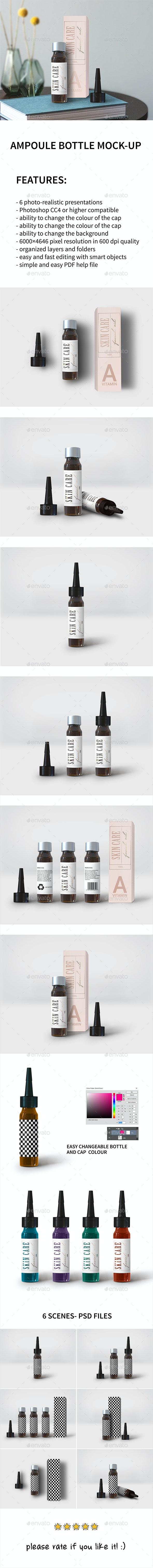 Ampoule Bottle Mock-up - Miscellaneous Packaging