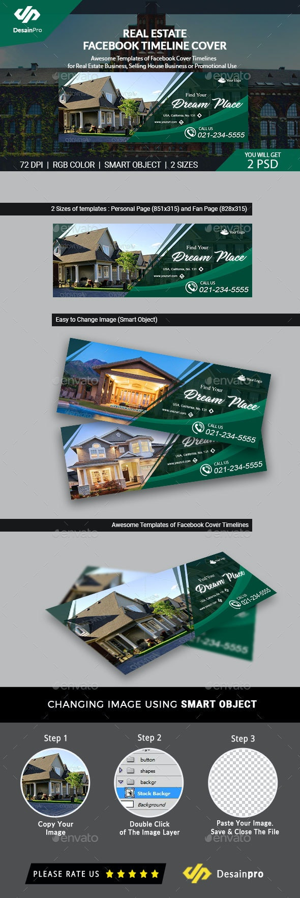 Real Estate Facebook Cover Template (AR) - Facebook Timeline Covers Social Media