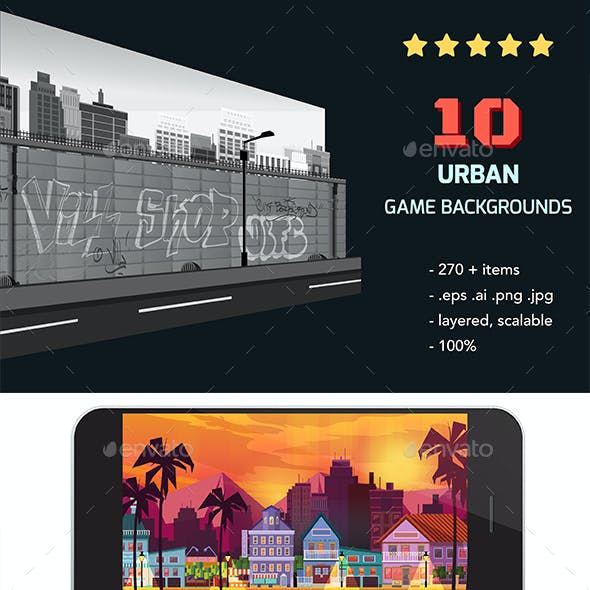 10  City Game Backgrounds