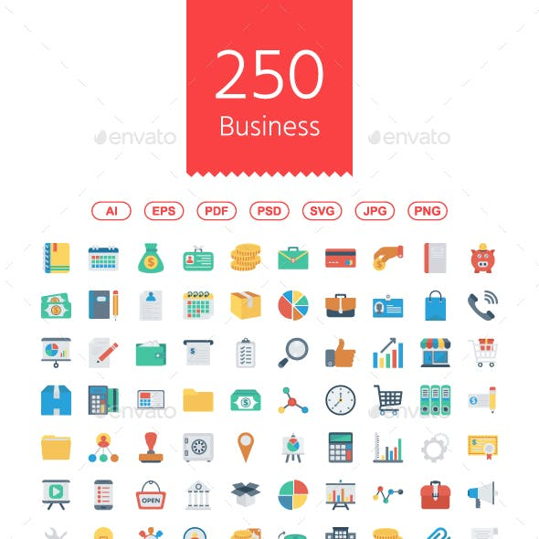 Busines and Office Flat icons