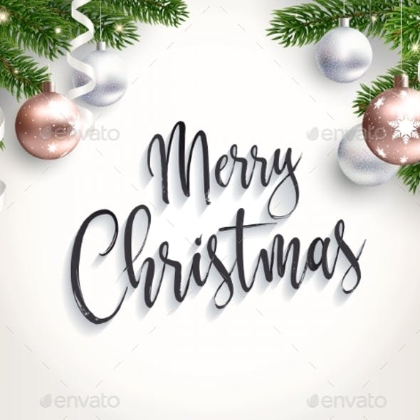 Merry Christmas Background for Congratulations