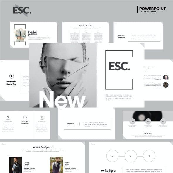 Esc - Googleslide Presentation Templates