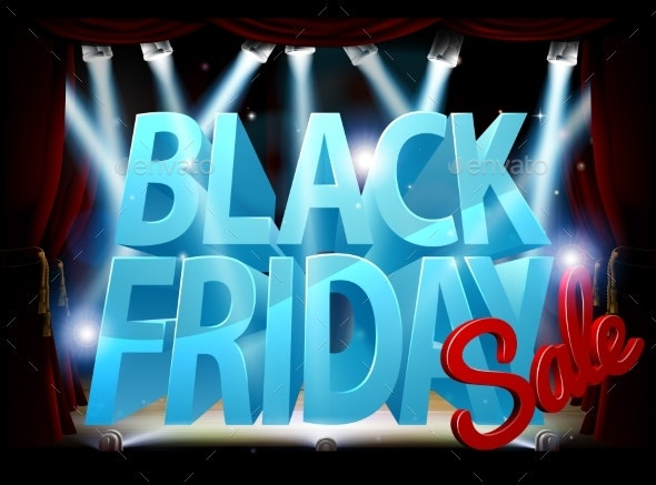 Black Friday Stage Sale Sign - Miscellaneous Vectors