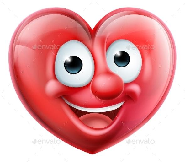 Heart Man Cartoon Character - Health/Medicine Conceptual
