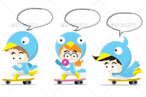 Twitterkids set 1 - Characters Illustrations