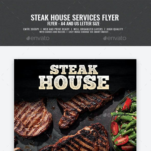 Steakhouse and Grill Flyer
