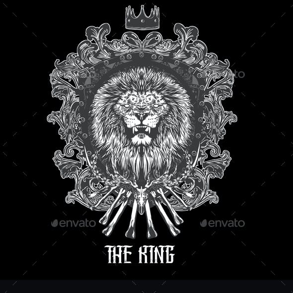 The King T-shirt Design