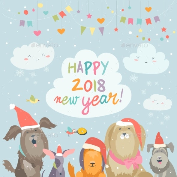 Happy 2018 New Year Card - New Year Seasons/Holidays