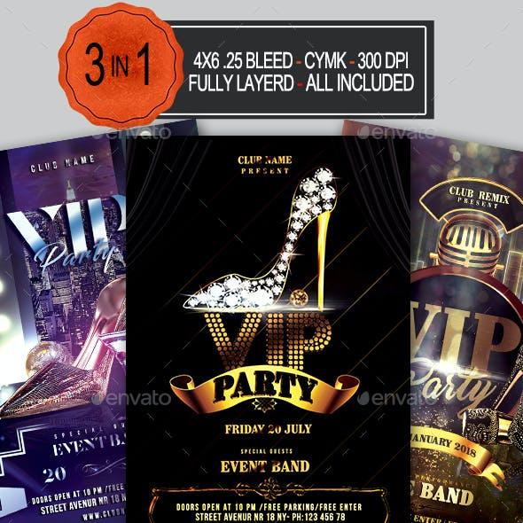 VIP Party Flyer Bundle