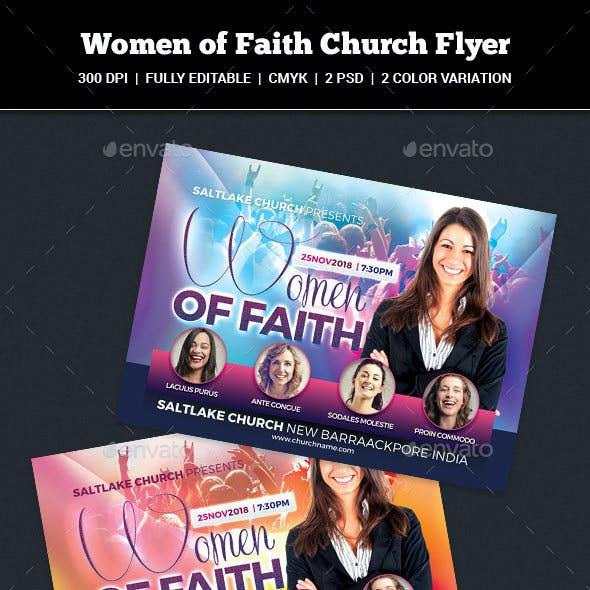 Women of Faith Church Flyer