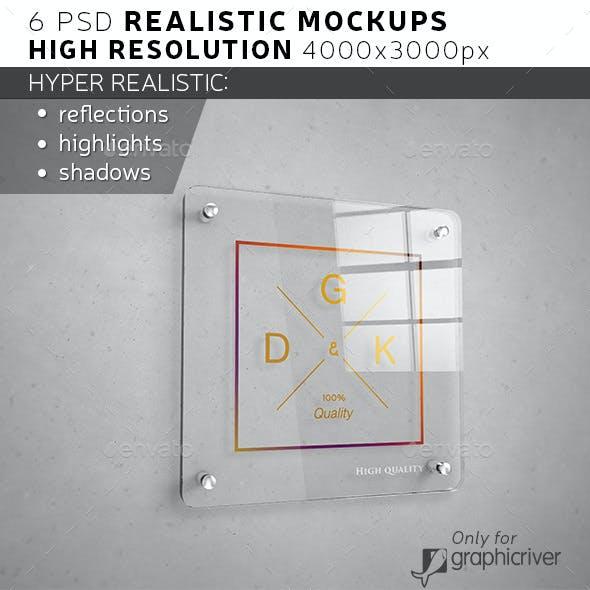 Glass Signage / Poster Mockup