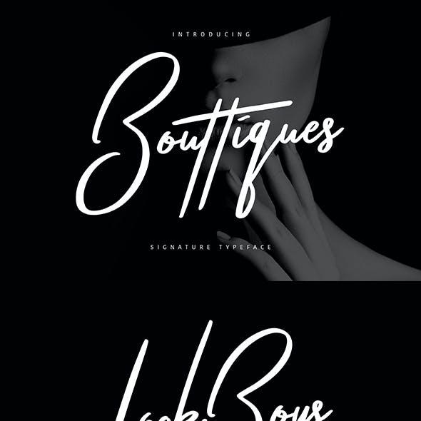 Bouttiques Signature Font