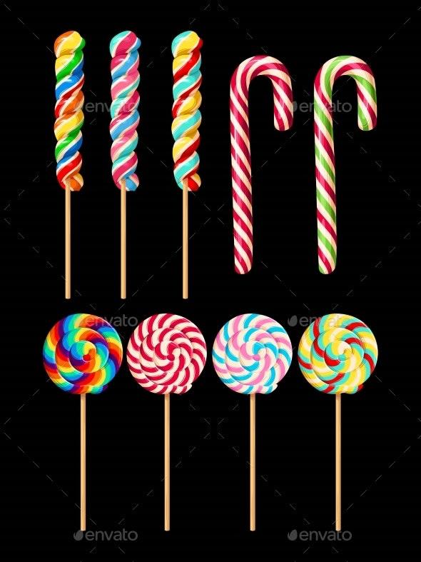 Set of Lollipops - Food Objects