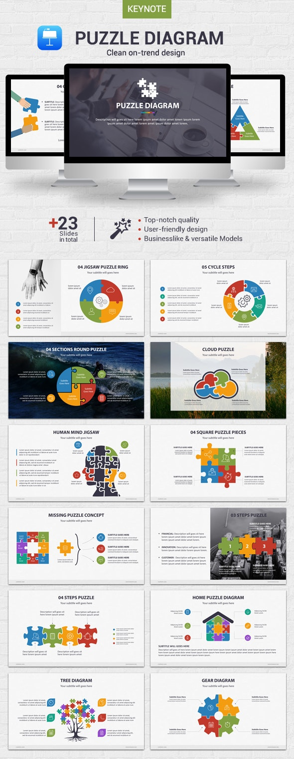 Puzzle Diagram - Keynote by CreaPack | GraphicRiver