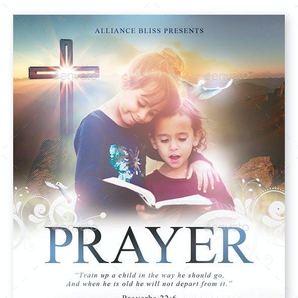 Prayer Church Flyer