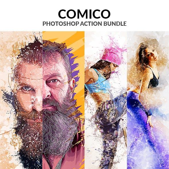 Comico Photoshop Action Bundle