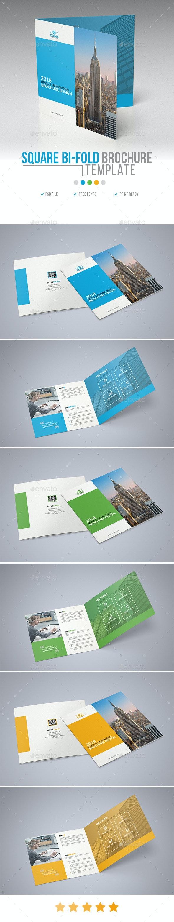 Corporate Square Bi Fold Brochure Template 01 - Corporate Brochures