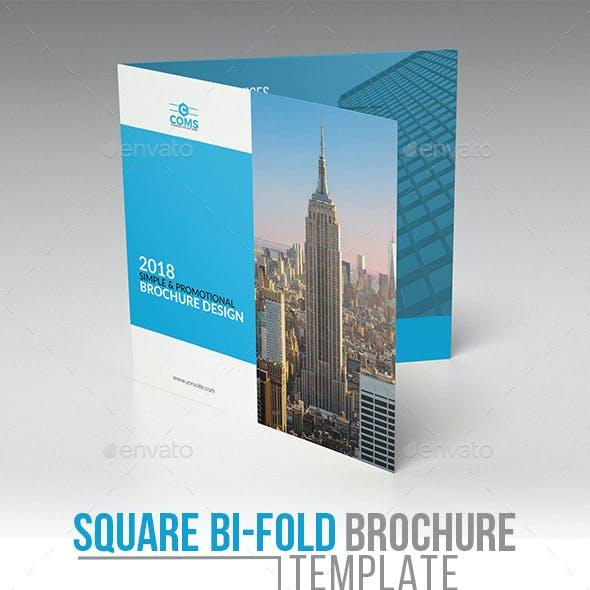 Corporate Square Bi Fold Brochure Template 01