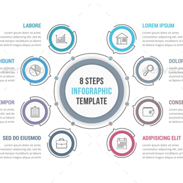 8 Steps - Circle Infographics