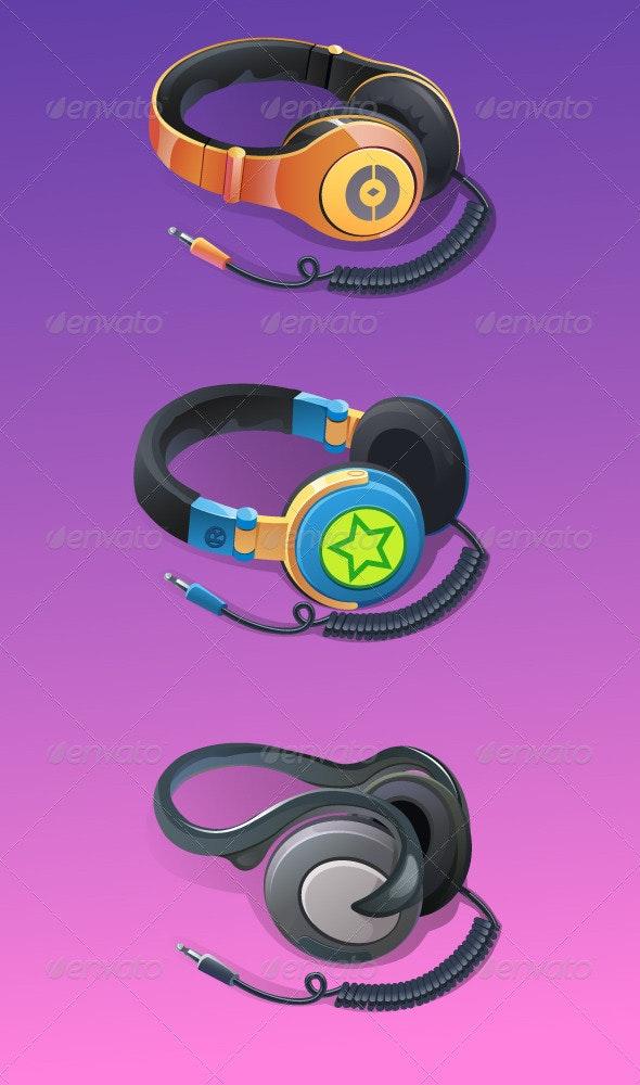 Stylish Headphones - Man-made Objects Objects