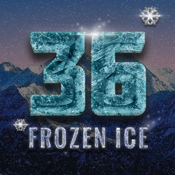 36 Frozen Ice Text Effect