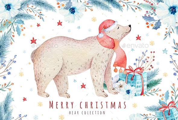 Christmas Bear Collection - Illustrations Graphics