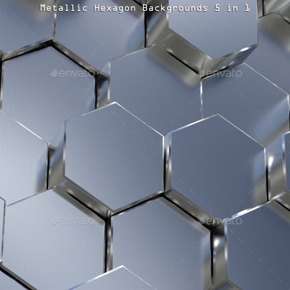 Metallic Hexagon Backgrounds