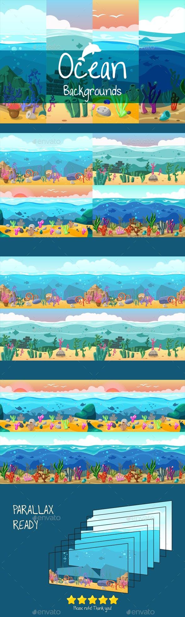 Parallax Ocean 2D Backgrounds