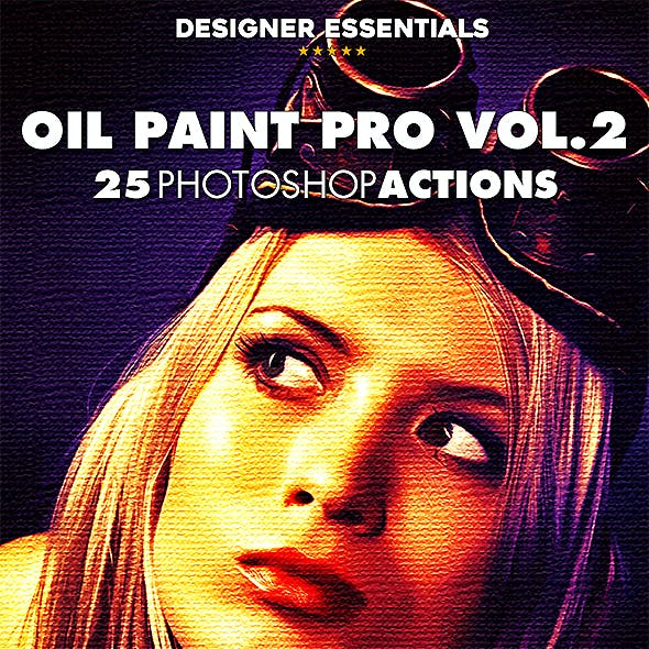 25 Oil Paint Pro Actions Vol.2