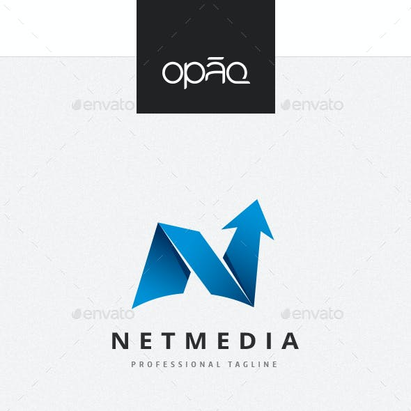 Abstract Folded Arrow Logo