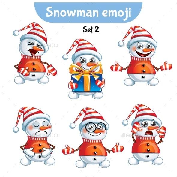 Set of Snowman Characters Set 2