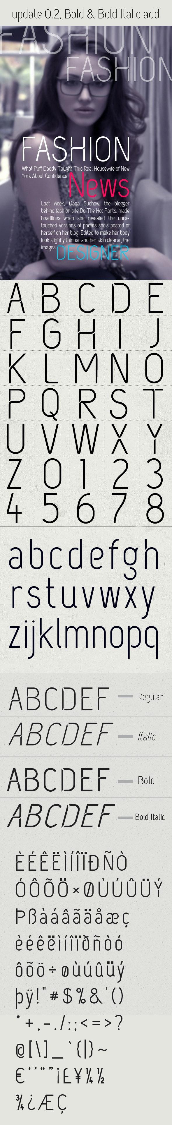 Fashion Font - Sans-Serif Fonts